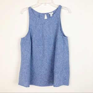 A NEW DAY Sleeveless Blue Chambray Top M
